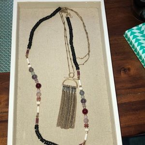 Stella & Dot Genevieve Tassel Necklace